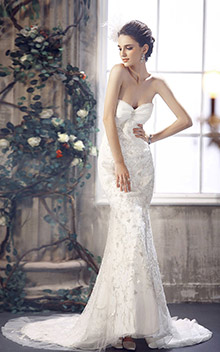 Trumpet Mermaid Hourglass Wedding Dress