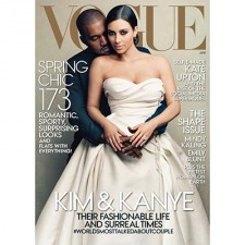 Kayne and Kim on Vogue
