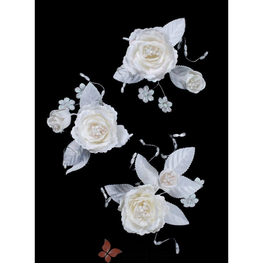 Ivory Wedding Bridal Flower Hair Clips One Of The Range Of