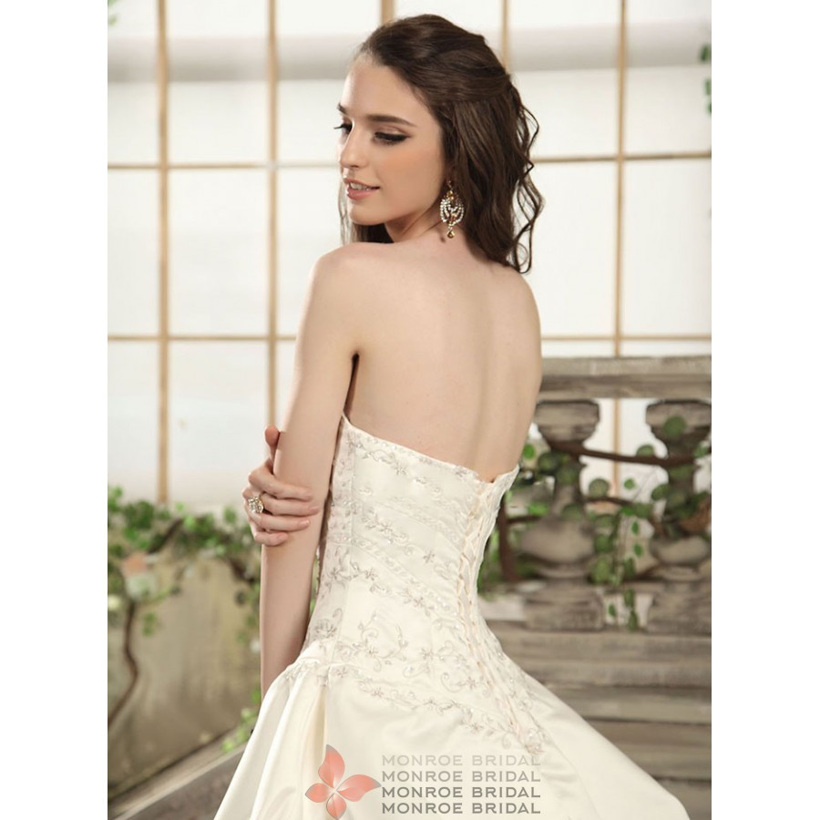 Aden Pickup Satin Wedding Gown