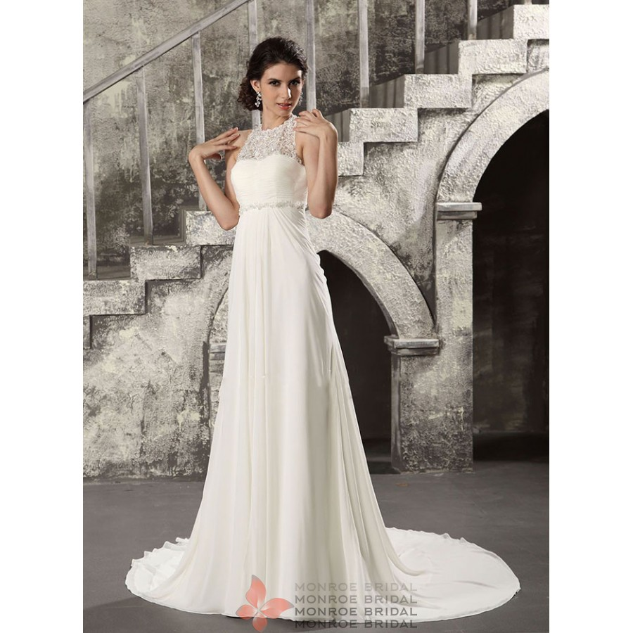 Alice - Empire Chiffon Wedding Gown- Elegant Empire Wedding Dress in ...