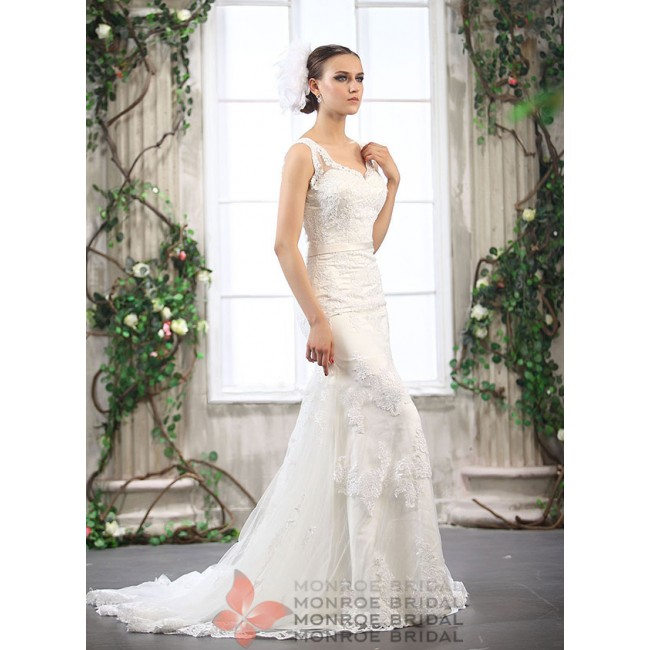 Abina - Sheath Column Wedding Dress