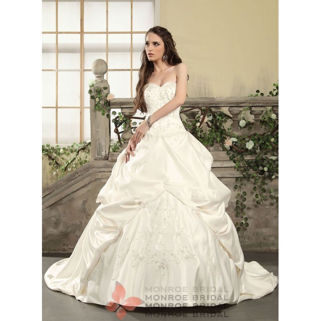 Aden - Pickup Satin Wedding Gown