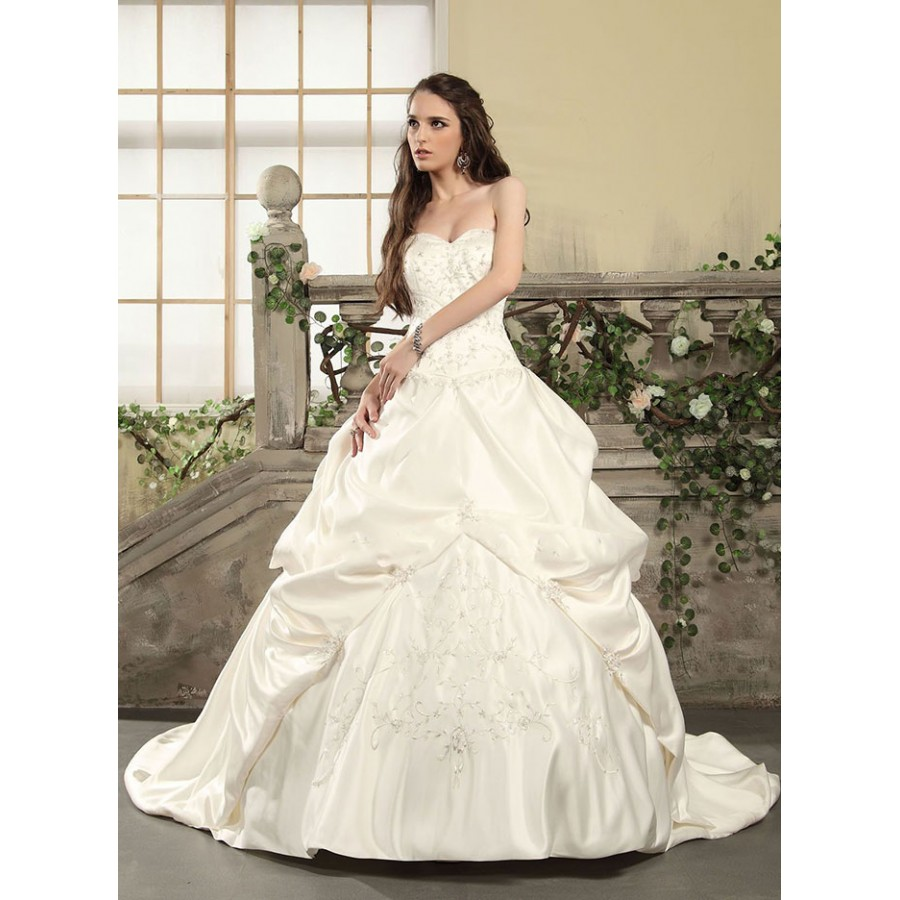 Satin Wedding Dresses: Aden Pickup Satin Wedding Gown
