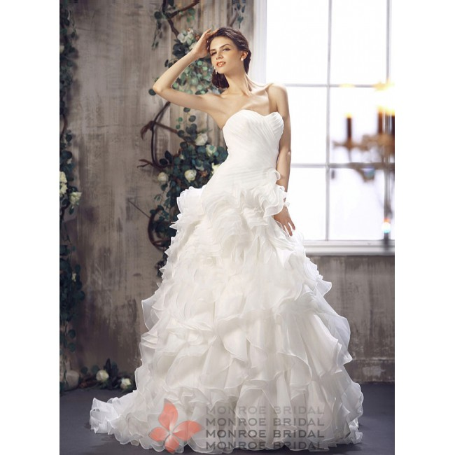 Alexis - Sweetheart Organza Gown