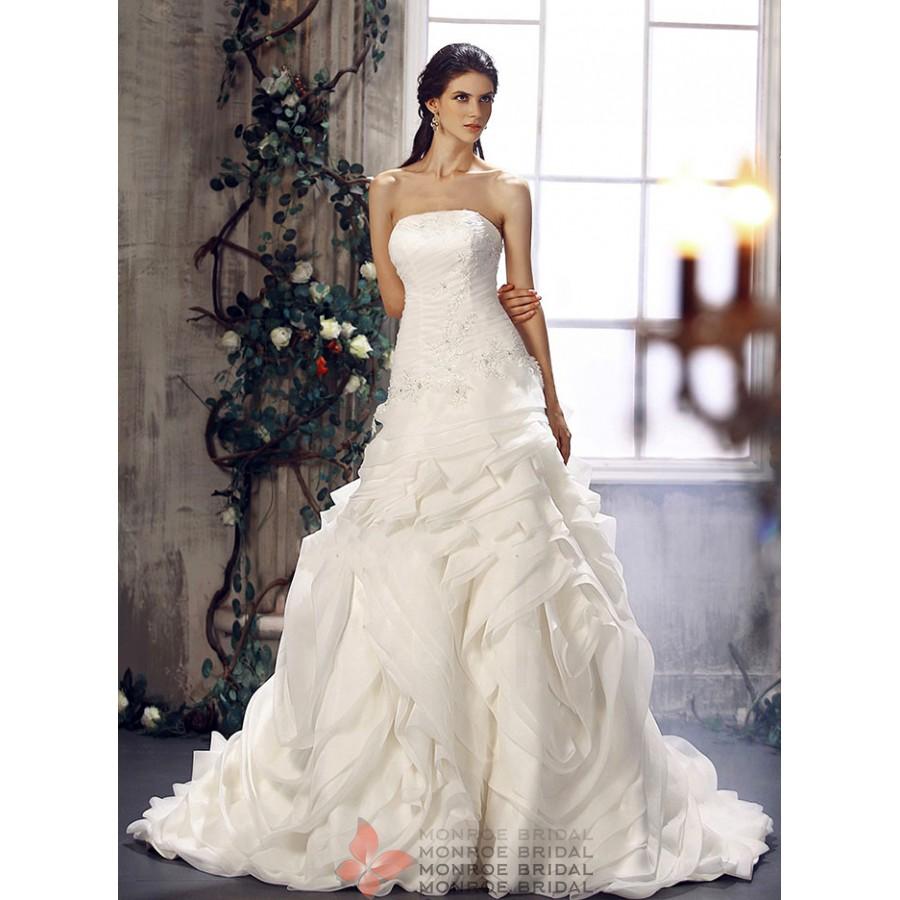 Angela - Strapless Organza Gown- Stunning Strapless Organza Ballgown ...