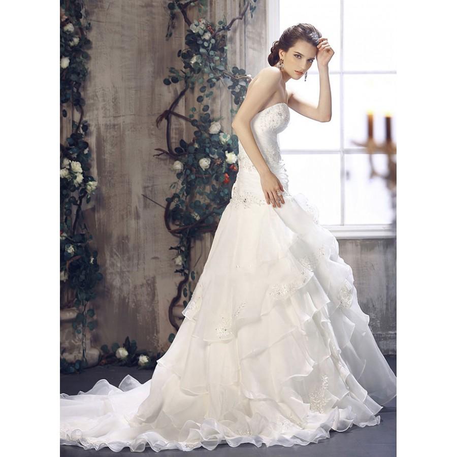 Drop Waist Wedding Dress: Drop Waist Gown- Beautiful Drop Waist Organza