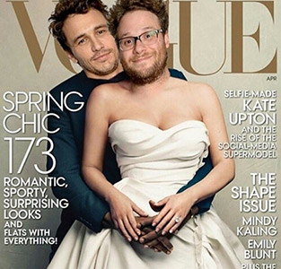 James Franco and seth Rogan kim and kayne