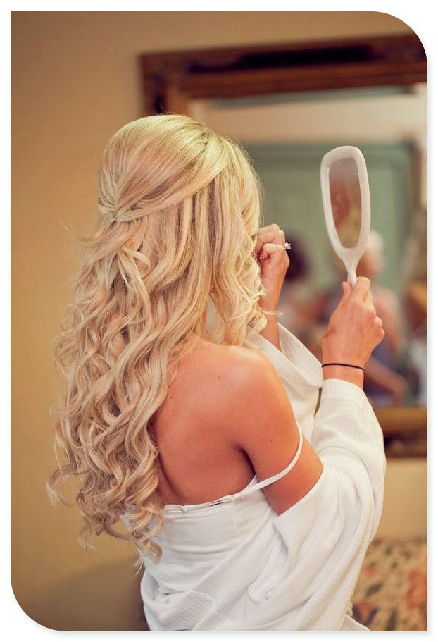 Long wedding hair style